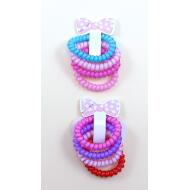 SET 4 COLETEROS CABLE TELEFONO COLORES JELLY