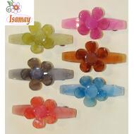 PASADOR MEDIANO COLOR JELLY FLOR