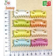 PINZA MINI 7 PUAS PASTEL BRILLO